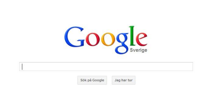 Google startsida