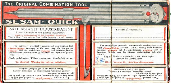 Kombinationsverktyget Sesam-Kvick