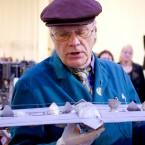 Och här: en modell till ett ångdrivet flygplan.