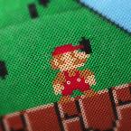 Super Mario gjord av pärlplattor. Foto: Anna Gerdén