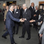Kungen och President Abdullah Gül hejar på museipersonalen