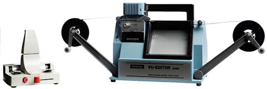 Skarvapparat och redigeringsapparat för Super 8.