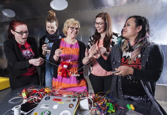 Geek Girl Meetup med tema #MAKEIT. Foto: Anna Gerdén